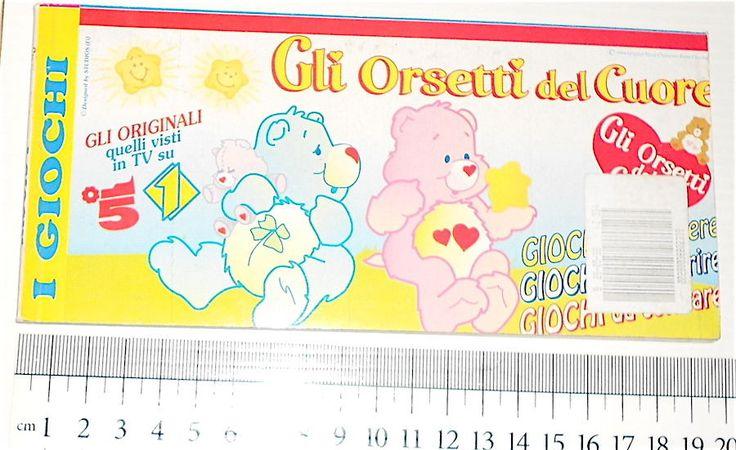 ORSETTI DEL CUORE (Care Bears) 90s Studios italy game strip mag - giornalino