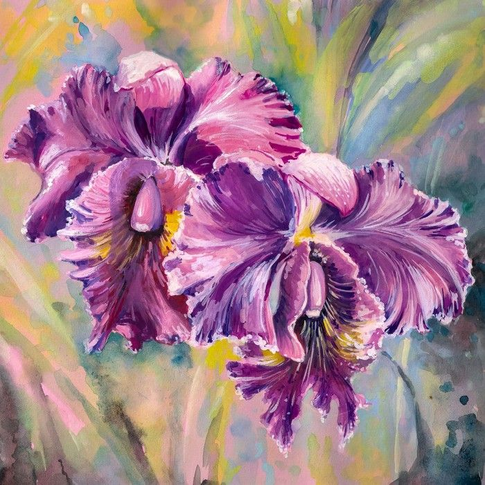 Orchid Flowers Living Room Art from $47.99 | www.wallartprints.com.au #LivingRoomDécor