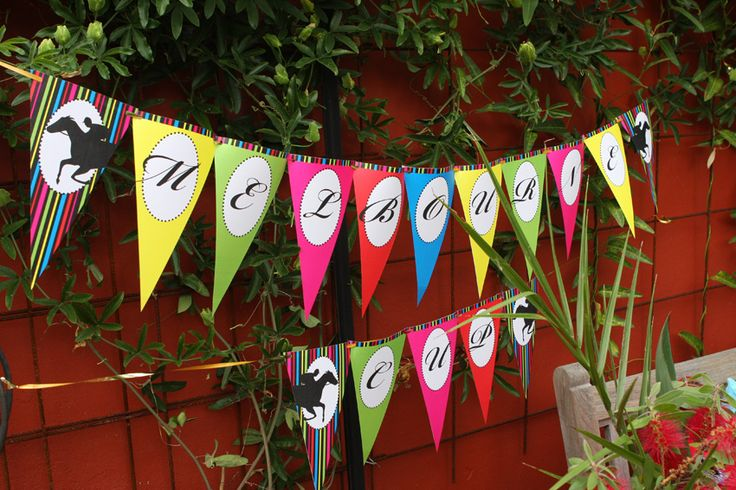 Melbourne Cup party printables - bunting flags
