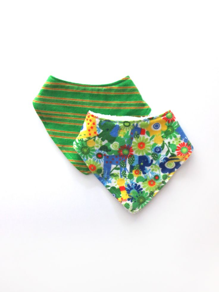 These cute and stylish bandana bibs are perfect for your little one. They are made with a soft flannel front and backed with terry cloth for extra absorbency. These bandana bibs make a great baby shower gift!   Gender neutral bibs #babyboy #droolbib #babyshowerideas #genderneutral