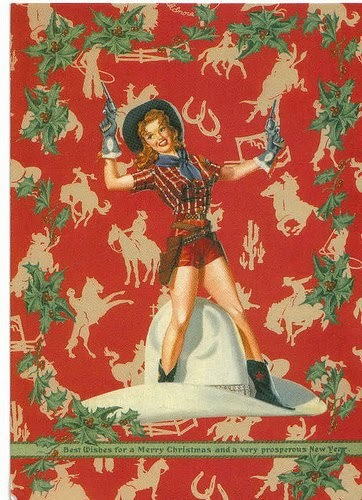 Vintage Christmas Cowgirl - Karen