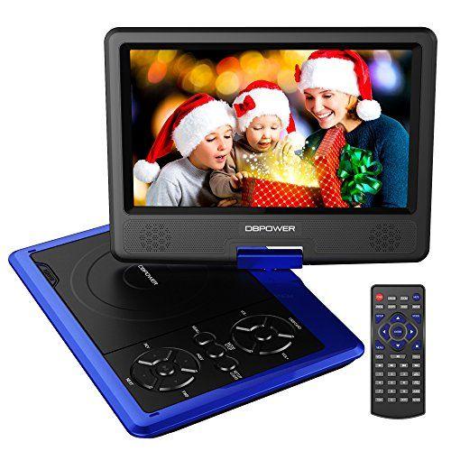 DBPOWER 9.5″ Lecteur DVD Portable avec écran orientable, compatibilité carte SD et interface USB, lit directement les formats MP4, AVI,…