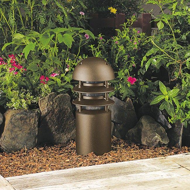 Landscape Lights Vista: 12 Volt Aluminum T3 Halogen 14 1/2 Inch High Bollard With