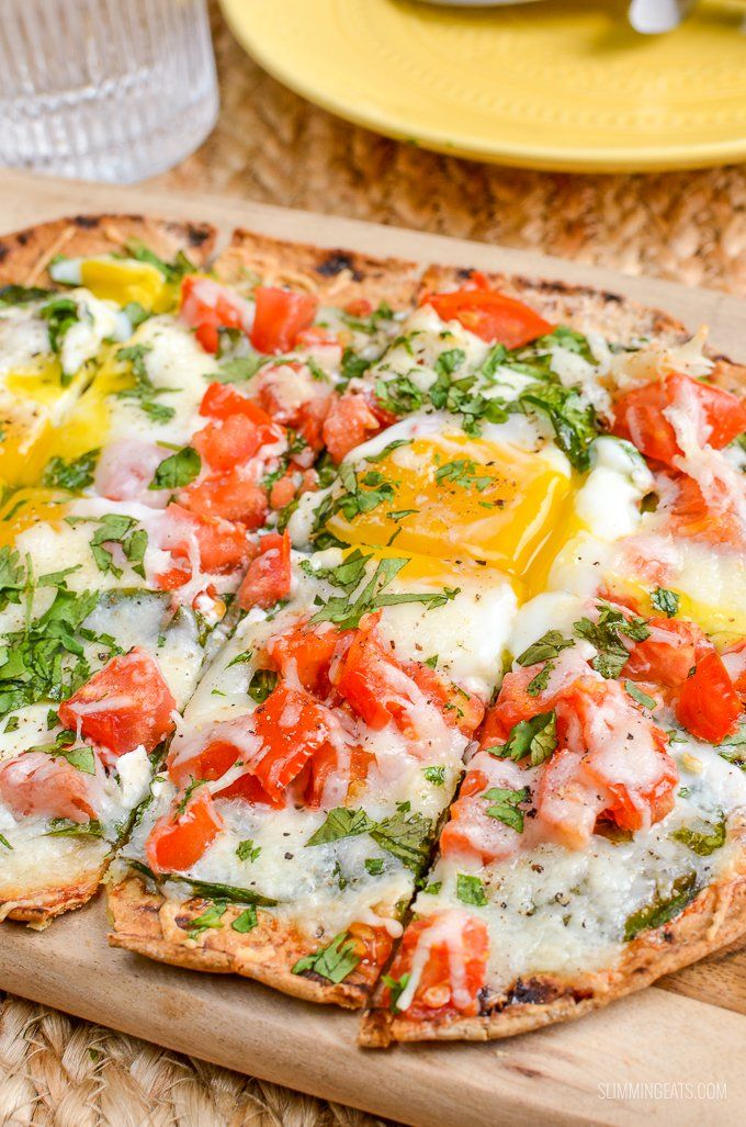 Pizza doesn't need to be just for dinner - with this Syn Free Breakfast Pizza. A delicious flatbread topped with perfectly cooked eggs.