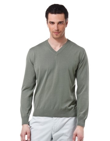 For my brother: Piacenza cashmere sage-colored jersey.