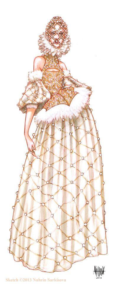 Illustration de mode Alexander McQueen piste par HAUSofNAHRIN