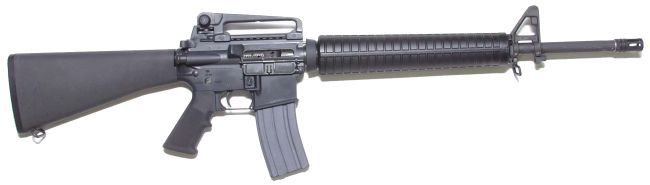 One of the most iconic military weapons the M16.