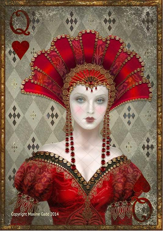 Limited Edition Prints Maxine Gadd is a published artist Queen of Hearts
