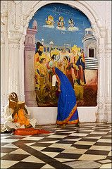 Kanak Bhavan - Ayodhya (Elishams) Tags: temple women traditional faith religion pray culture devotion diwali hinduism ramayana northindia uttarpradesh  ayodhya indedunord 50millionmissing diamondclassphotographer flickrdiamond flickrelite kanakbhavan