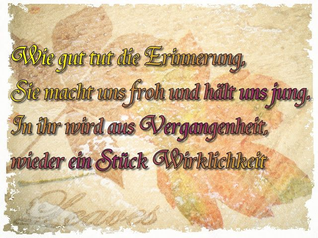 Spruchreif: Erinnerung