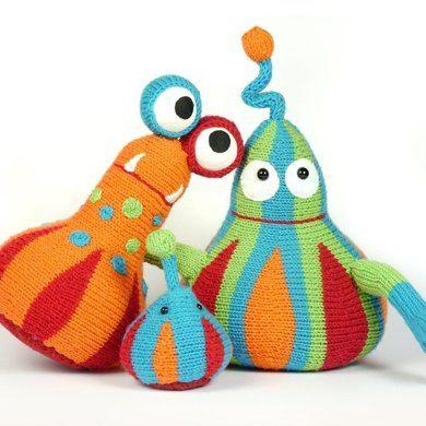 Monster Family knitting pattern / Strickanleitung