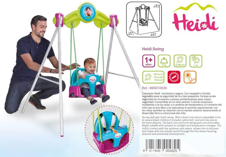 COLUMPIO INFANTIL HEIDI PARA BEBÉS. FEBER 800010535., IndalChess.com Tienda de juguetes online y juegos de jardin