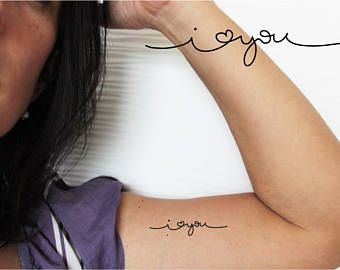 4 always temporary tattoos / word tattoo / always tattoo /