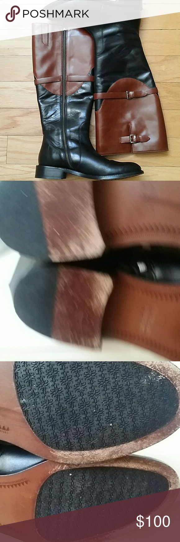 Johnston and Murphy Lyla full zipper boots Soft leather tall  boots .. gently used. ... 1 1/4 in heel... roomy calf area... last Johnston & Murphy Shoes Heeled Boots