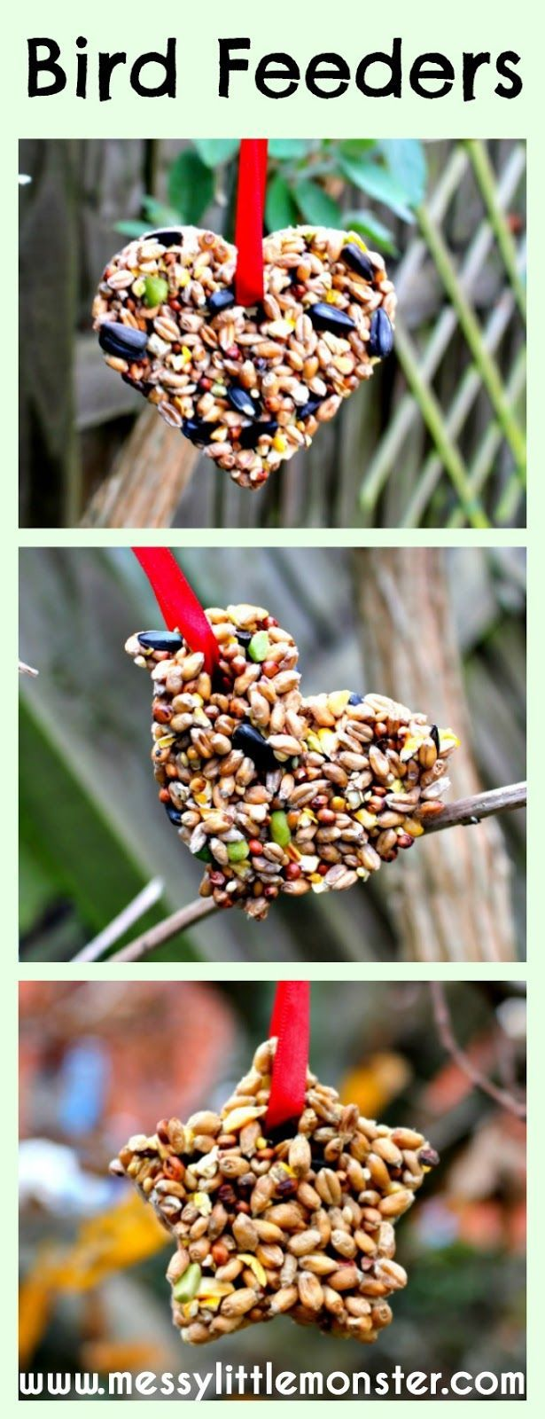 Homemade garden art ideas - Messy Little Monster Simple Step By Step Instructions For How To Make A Bird Feeder