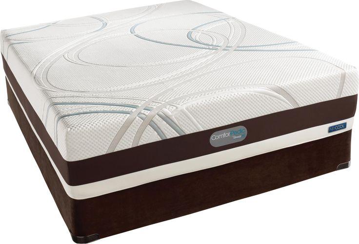 comforpedic advanced key largo full memory foam mattress set by simmons mattresses we love