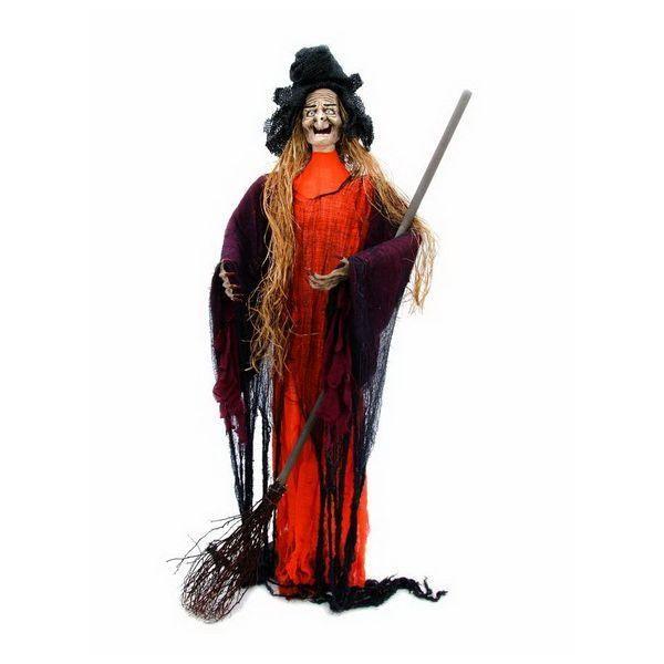 Halloween-Figur Zoll Hexe Zoll mit Strohhaaren
