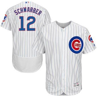 d8dc8c8a0 Kyle Schwarber Chicago Cubs Majestic Home Flex Base Authentic Collection  Player Jersey - White Royal