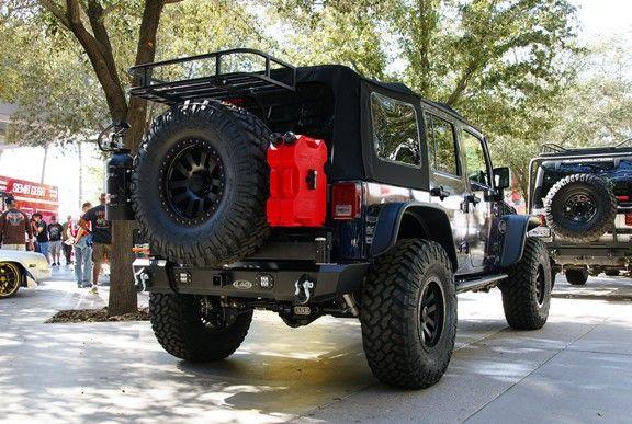 Jeep Jk Front Bumper >> jk rear bumper with tire carrier jerry cans   ... Armor Lite Generation 4 Shorty Rear Bumper ...