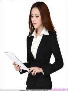 Vest nữ công sở 012. Chất liệu vải tốt, bền đẹp, đường may sắc sảo, nhiều mẫu mã đa dạng. LH: 0908149946 - Email: dongphucphuhoang@gmail.com