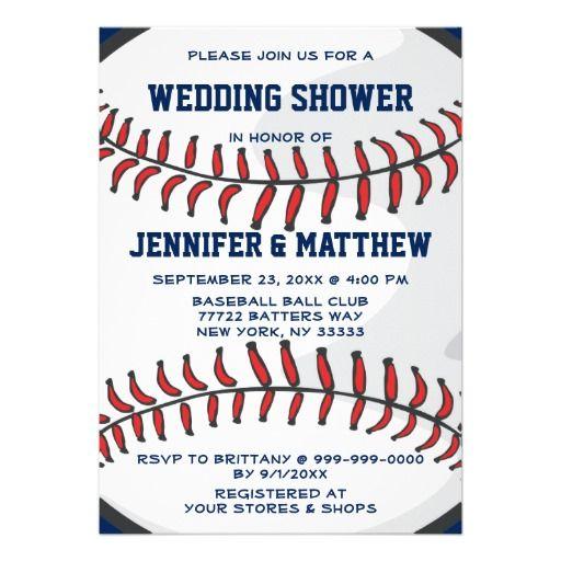 Baseball Ball Player Fan Wedding Shower Blue 2 Invitation #wedding #invitations
