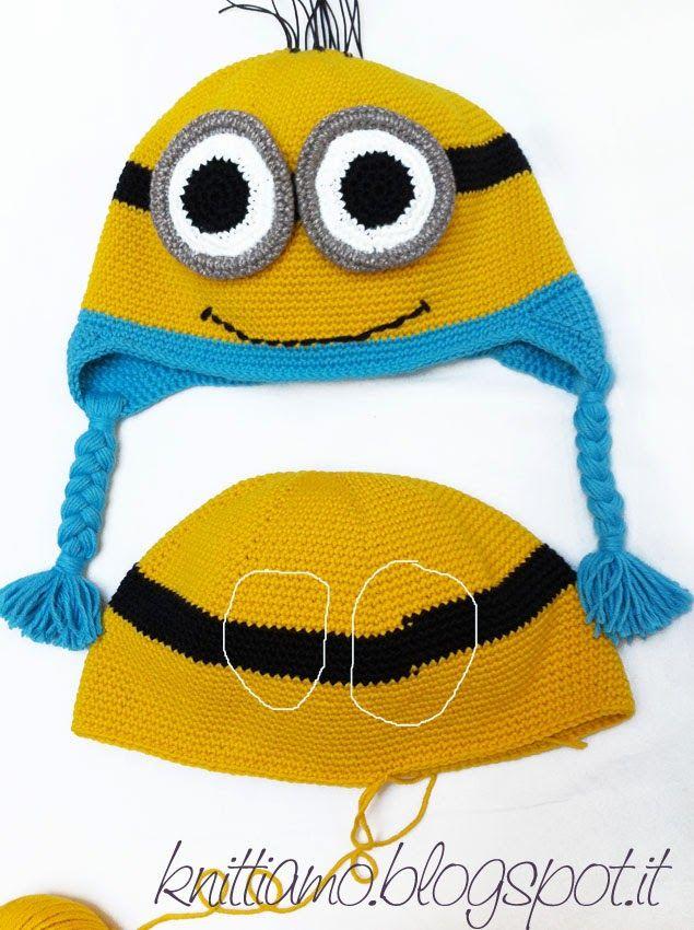 I personaggi più simpatici di questo inverno, I MINION. Diventano cappelli per bambini ed adulti seguendo questo tutorial. Con il kit di la...