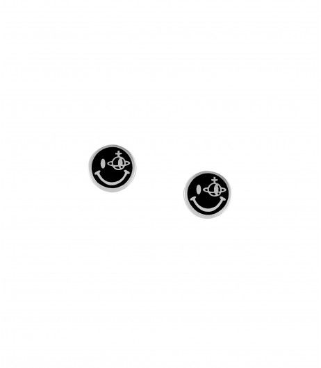 Vivienne Westwood Smiley Earrings Black/Silver #jewellery