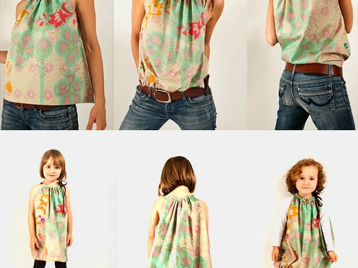 DIY Nähanleitung: Damentop, Kinderkleid // fashion diy: How to sew a top, dress via DaWanda.com