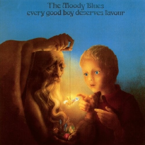 1971 The Moody Blues - Every Good Boy Deserves Favour [Threshold THS5] artwork: Phil Travers #albumcover #illustration