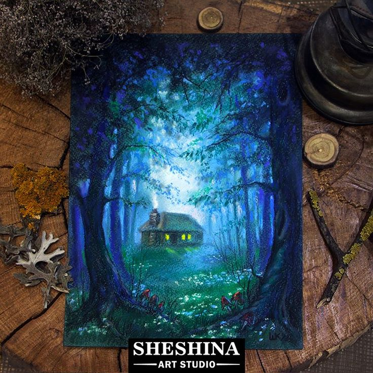 """🎨Шешина Екатерина  Арт графика """"Таинственный лес""""  пастель, бумага для пастели Palazzo.  #Шешина_Екатерина #sheshina_ekaterina #softpastel #пастель #art"""