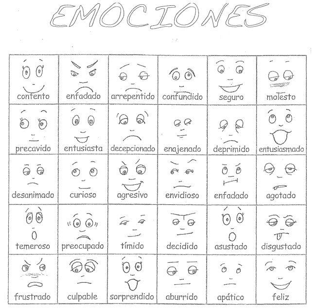 emociones en espanol - Google Search