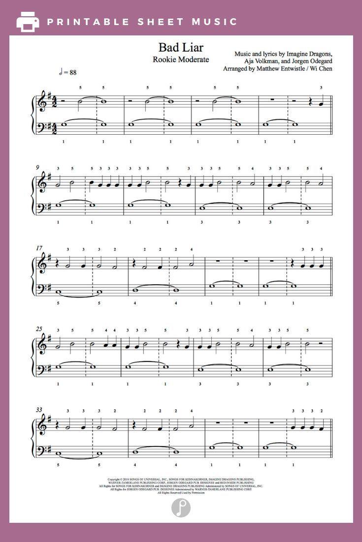 Piano Music Imagine Dragons Piano Music Imagine Dragons
