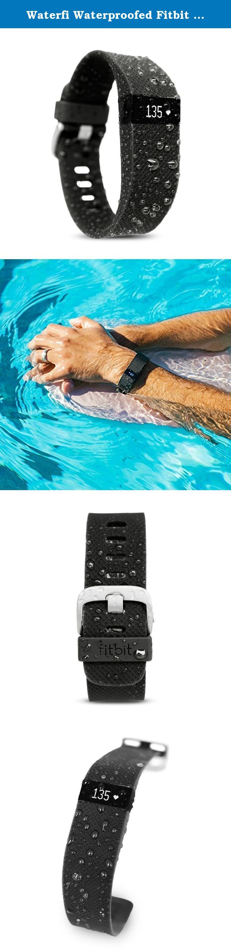 Waterfi Waterproofed Fitbit Charge HR Wireless Activity Tracker with Heart Rate Monitor (Large). WATERFI WATERPROOFING Completely waterproof down to 210 feet underwater, the Waterproofed Fitbit Flex has been waterproofed on the inside through our durable and long lasting waterproofing process so you can fully submerge your Fitbit Flex and go wherever your active life takes you. Learn more about Our Process. READY TO DIVE IN No longer limited to accidental splashes, the Waterproofed Fitbit...