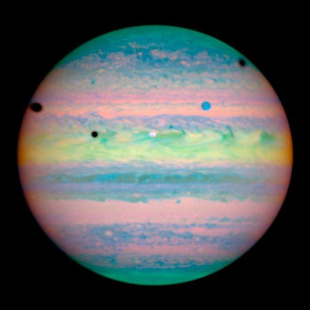 Triple Jupiter Eclipse.