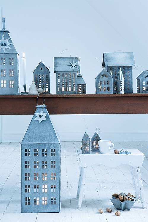 Love these little houses Christmas Zinc Tea Light Houses