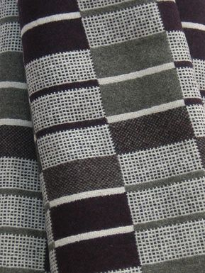 Narrow Gauge Blanket by Eleanor Pritchard - inspired by train tracks and the repeat patterns of rails and sleepers.