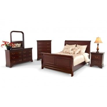 louie 8 piece full bedroom set