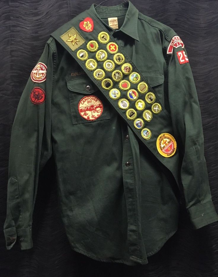 Vintage antique rare boy scouts uniform with patches, pants, belt, buckle, shirt, and sash. Minor wear from age and use. Some discoloration. Minor holes and piques. Could use a good cleaning. Buying as is. Please see all pictures for condition and specifics. | eBay!