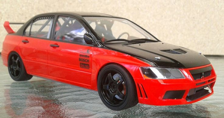 Tamiya Mitsubishi Lancer Evo 7.