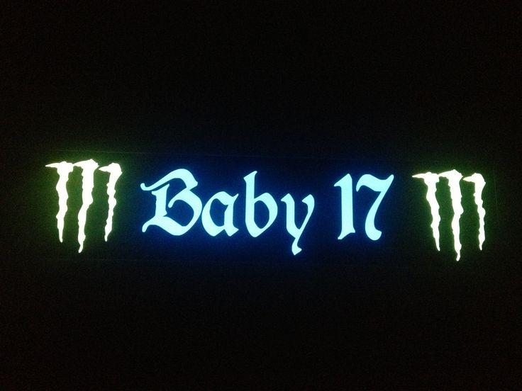 Plaque prénom routier Baby17