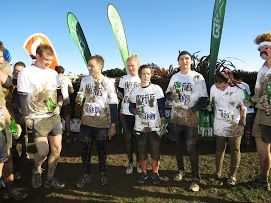 Some of our service team *after* the Mud Sweat and Tears challenge! Well done!