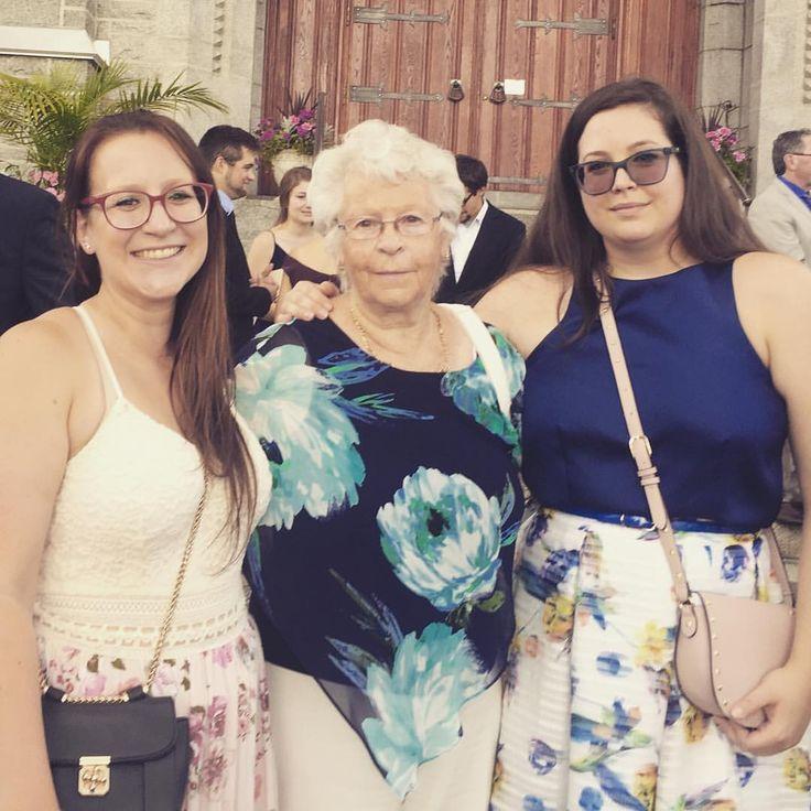 "9 Likes, 1 Comments - Emmanuelle Blanchette (@emmanebdesign) on Instagram: ""Grand-mère, my sister Max et I! All dressed up for the occasion! #wedding #familytime"""
