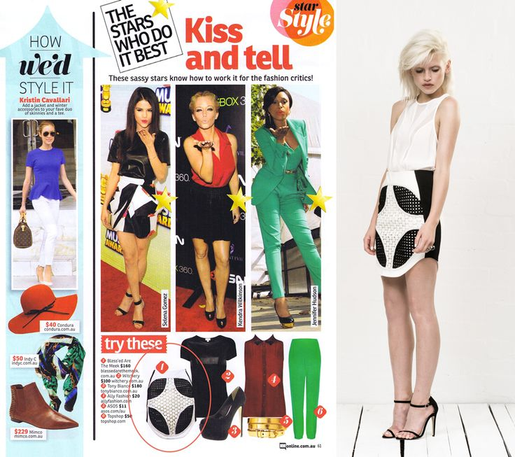 NW Magazine Australia – 01.07.13 Need some star style inspiration? Check out our Landscape Skirt featured in NW Magazine this week.