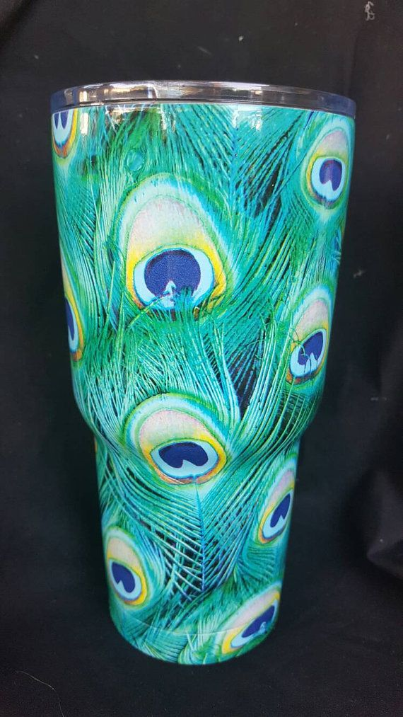 Check out this item in my Etsy shop https://www.etsy.com/listing/386939282/rtic-tumbler-30-oz-peacock-hydro
