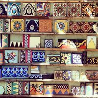Gorgeous tiles spotted in Malibu Frame tiles and use as wall decoration...new or vintage