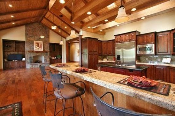 17 best images about open floor plan design on pinterest for Rustic kitchen floor ideas