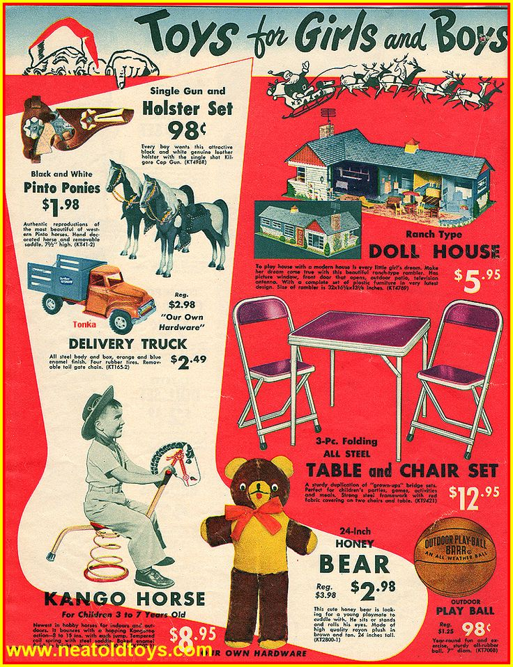 1954 Our Own Hardware Christmas Catalog Ad - I still have that table and chair set, my grandkids use