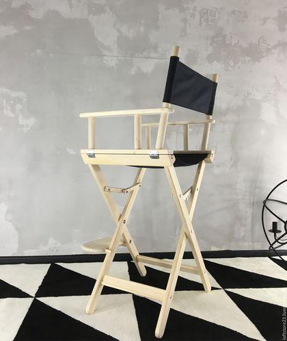 Купить или заказать Кресло режиссера DEXTER в интернет-магазине на Ярмарке Мастеров. Кресло режиссера. Стул полностью складной. Имеет подножку. Ткань легко можно сменить на другую. Так же возможно нанесение принта, стоимость 1000 руб. Общие характеристики кресла режиссера: высота 110 см, ширина 58 см, глубина 42,5 см. Характеристики сиденья: расположено на высоте 73 см, ширина 58 см, глубина 42 см. Характеристики спинки из ткани: ширина 19 см, длина 58 см. Высота подножки 18 см.