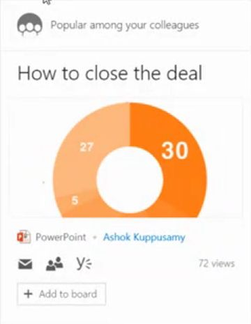 Popular among your colleagues  Office Delve and Office Graph Vision and Roadmap BRK1105
