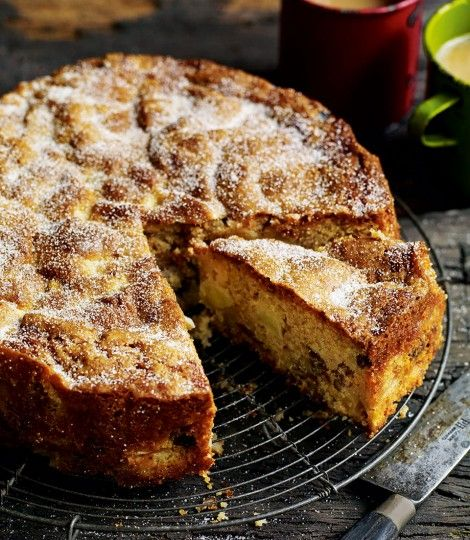 Wonderful fruit/ nut cake. Debbie Major's Chunky Apple, Raisin, Walnut & Cider Cake  /  DEL